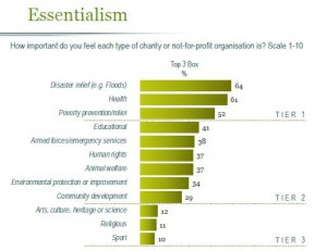 charities ranked by importance