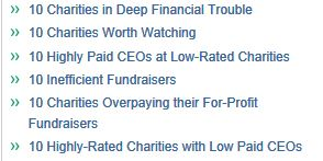 Rating Australian charities
